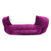 Pure Comfort Clamshell Fuchsia Pet Bed