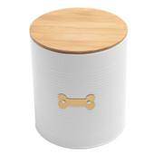 Park Life Designs Hector White Food Tin Pet Treat Jar