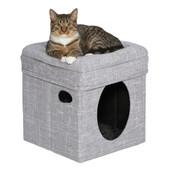 Feline Nuvo Silver Curious Cat Cube