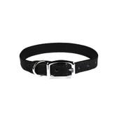 Pocket Pups Black Leather Dog Collar
