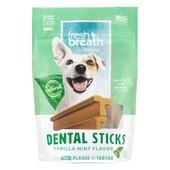 Fresh Breath By TropiClean Dental Sticks Dog Treats
