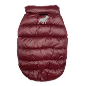 Fetch Your Own Adventure Reversible Navy & Maroon Puffer Dog Coat