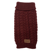 Fetch Your Own Adventure Wool Maroon Dog Sweater