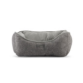 NanDog Dark Grey Cashmere Plush Pet Bed
