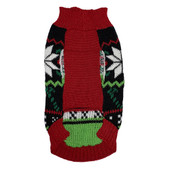 Forever Friends Holiday Snowflake Fair Isle Dog Sweater