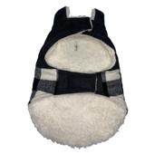 Forever Friends Holiday Black & White Plaid Dog Jacket