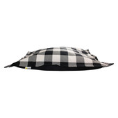 BeOneBreed Cloud Pillow Black Plaid Dog Bed