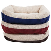 Aspen Pet Self-Warming Corduroy Cuddler Dog Bed, Assorted