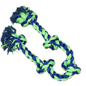 Amazing Pet 5 Knot Rope Dog Toy - Blue & Green