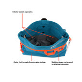 RC Pets Quick Grab Dog Treat Bag Infographic - Front