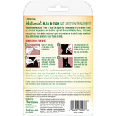 TropiClean Natural Flea & Tick Spot On Treatment for Cats - Back