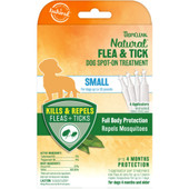 TropiClean Natural Flea & Tick Spot On Treatment for Small Dogs (Under 35 lbs) - Front