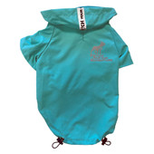 Fetch Your Own Adventure Windbreaker Dog Coat - Front, Teal