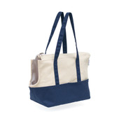 Patchwork Pet Canvas Tote Dog Carrier - Front