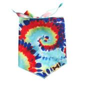 SimplyDog Tie-Dye Print Dog Bandana - Front