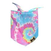 SimplyDog Pastel Tie-Dye Print Dog Bandana - Front
