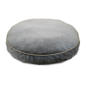 Pure Comfort Round Grey Lounger Dog Bed - Front