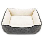 Pure Comfort Rectangular Cuddler Heather Gray Dog Bed - Front