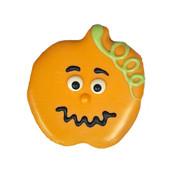 Pawsitively Gourmet Halloween Jack O' Lantern Dog Cookie - Front
