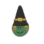 Pawsitively Gourmet Halloween Witch Cone Dog Cookie - Front