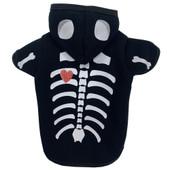 PetRageous Halloween Skeleton Dog Hoodie - Front