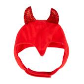 SimplyDog Halloween Devil Horn Dog Headpiece - Front