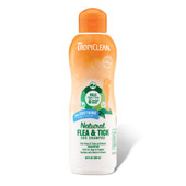 TropiClean Natural Flea & Tick Soothing Dog Shampoo for Dogs and Puppies