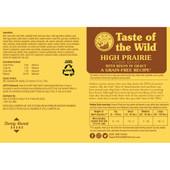 Taste of the Wild High Prairie Canine Formula Canned Dog Food - Back
