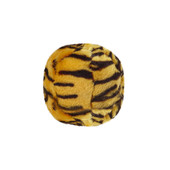 Fluff & Tuff Tiger Ball Plush Dog Toy