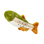 Fluff & Tuff Ruby Rainbow Trout Plush Dog Toy