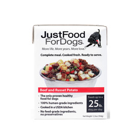 JustFoodForDogs Pantry Fresh Beef & Russet Potato Wet Dog Food - Front