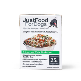 JustFoodForDogs PantryFresh Chicken & White Rice Wet Dog Food - Front