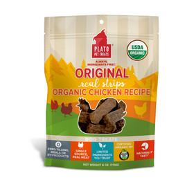 Plato Original Real Strips Organic Chicken Recipe Dog Treats