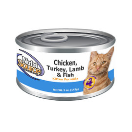 NutriSource Chicken, Turkey, Lamb & Fish Canned Cat Food