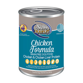 NutriSource Grain Free Chicken Canned Dog Food