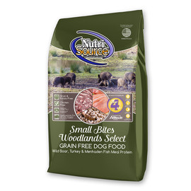 NutriSource Small Bites Woodlands Select Grain Free Dry Dog Food