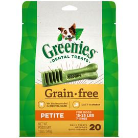 Greenies Grain Free Petite Dental Dog Treats
