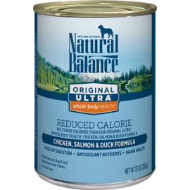 Natural Balance Original Ultra Whole Body Health Reduced Calorie Chicken, Salmon & Duck Canned Dog Food