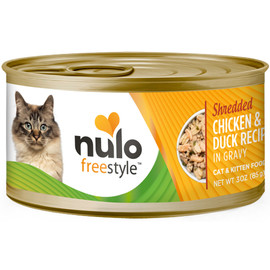 Nulo Freestyle Cat & Kitten Shredded Chicken & Duck Recipe In Gravy Canned Cat Food