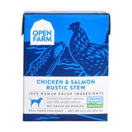 Open Farm Chicken & Salmon Rustic Stew Wet Dog Food
