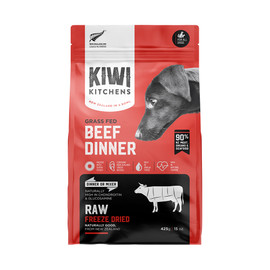 Kiwi Kitchens Grass Fed Beef Dinner Raw Freeze Dried Dog Food