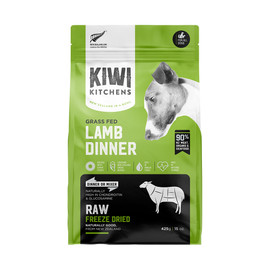 Kiwi Kitchens Grass Fed Lamb Dinner Raw Freeze Dried Dog Food