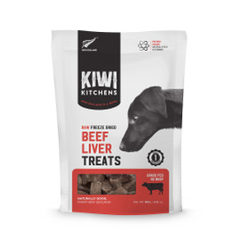 Kiwi Kitchens Raw Freeze Dried Beef Liver Dog Treats