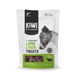 Kiwi Kitchens Raw Freeze Dried Lamb Liver Dog Treats