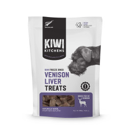 Kiwi Kitchens Raw Freeze Dried Venison Liver Dog Treats