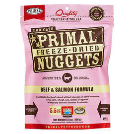 Primal Beef & Salmon Formula Raw Freeze-Dried Cat Food - Front