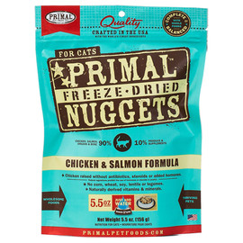 Primal Chicken & Salmon Formula Raw Freeze-Dried Cat Food - Front
