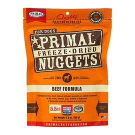 Primal Beef Formula Raw Freeze-Dried Dog Food - Front