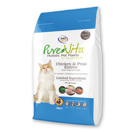 PureVita Grain Free Chicken & Peas Entree Dry Cat Food