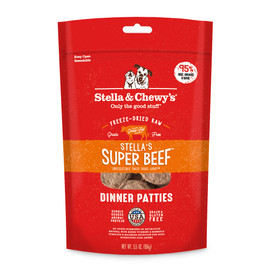 Stella & Chewy's Super Beef Dinner Patties Freeze-Dried Raw Dog Food